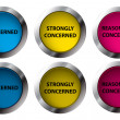 Stock Vector: Concerned buttons