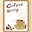 Stock Vector: Coffee shop poster