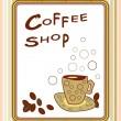 Coffee shop poster — Stock Vector
