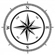 Compass rose — Vettoriali Stock