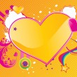 Valentines abstract background — Imagen vectorial