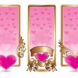 Royalty-Free Stock Imagem Vetorial: Valentine banner set