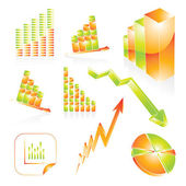 Business graphs — Stock Vector