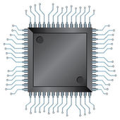 CPU chip — Vettoriale Stock
