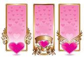 Valentine banner set — Stock Vector