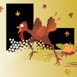 Royalty-Free Stock Imagen vectorial: Comic turkey