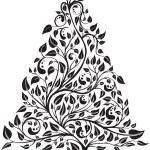 Artistic pine tree — Stock Vector
