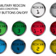 REDCON buttons - Stock Vector