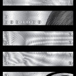 Stock Vector: Metal textured banners