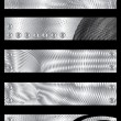 Metal textured banners - Stock Vector