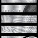 Metal textured banners — Stock Vector