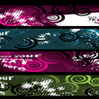 Grunge stylish banners — Stock Vector