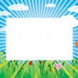 Summer shiny meadow — Stock Vector