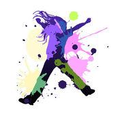 Splash dance — Stock Vector