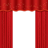 Theater curtains — Stock Vector