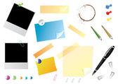 Sistema de papelería de oficina — Vector de stock