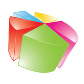 3d shiny pie chart — Stock Vector