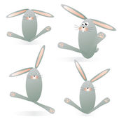 Funny bunnies — Stock Vector