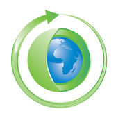 Green earth concept icon — Stok Vektör