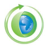 Grüne erde-konzept-symbol — Stockvektor