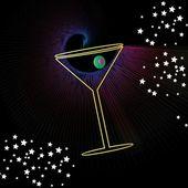 Martini drink — Stock Vector