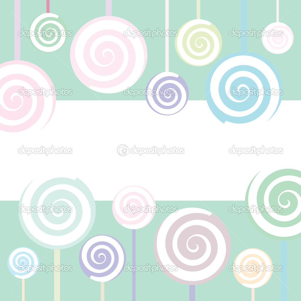 Trendy Lollipop Background in pastel colors — Vektorgrafik #1914137