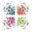 Floral corners — Stock Vector