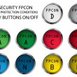 FPCON buttons - Stock Vector