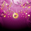 Musical pink bacground — Stock Vector