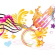 Funky music - Stock Vector