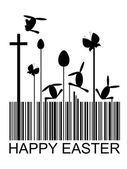 Easter barcode — Stock Vector