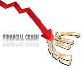 Crollo finanziario — Vettoriale Stock