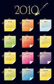 2010 年的日历 — 图库矢量图片