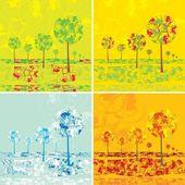 Four seasons — Stock Vector