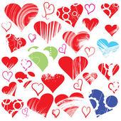 Herz-auflistung — Stockvektor