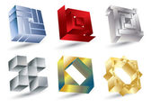 Shiny square icons — Stock Vector