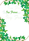 Ivy frame — Stock Vector