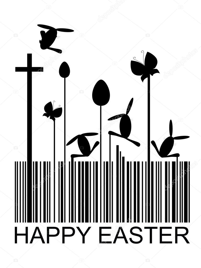 Easter bar code, vector illustration  Stock Vector #1920164