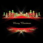 Christmas abstract shiny border — Stock Vector