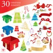 Royalty-Free Stock Imagen vectorial: Christmas elements
