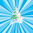 Stylized Christmas tree — Stock Vector