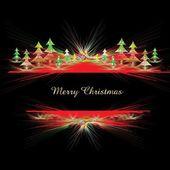 Christmas abstract shiny border — Vector de stock