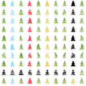 Pine tree collection — Stock Vector