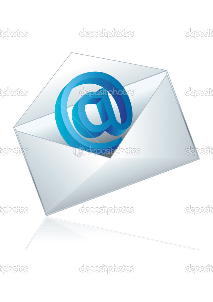 Conceptual vector illustration of shiny e-mail icon  Stock Vector #2009590