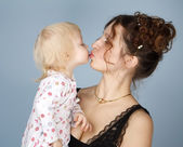 The woman with the child — Stock Photo
