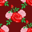 Royalty-Free Stock Vector Image: Seamless pattern with roses