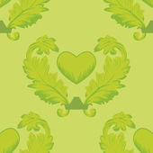 Seamless pattern wiht heart — Stock Vector