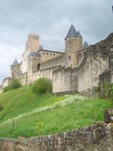 The medieval village of Carcassonne in France. — Stock Photo