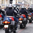 Bikers of the National Gendarmerie - 图库照片