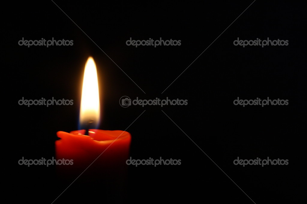 A candle lit in the night. — Stock Photo #2100619